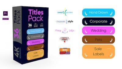 Titles Pack 4K