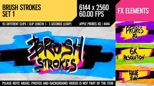 Brush Strokes (6K Set 1)