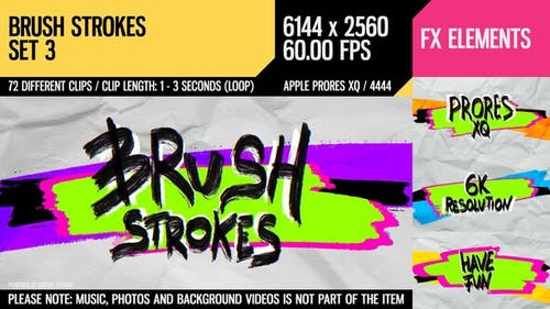 Brush Strokes (6K Set 3)
