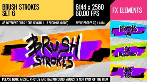 Brush Strokes (6K Set 6)