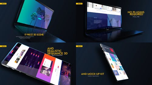 Web Promo And Mockup Device Kit V02