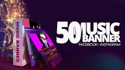 50 Music Banners Ad