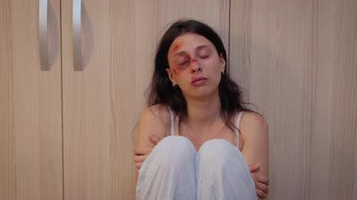 Face of the Woman Victim of Violence