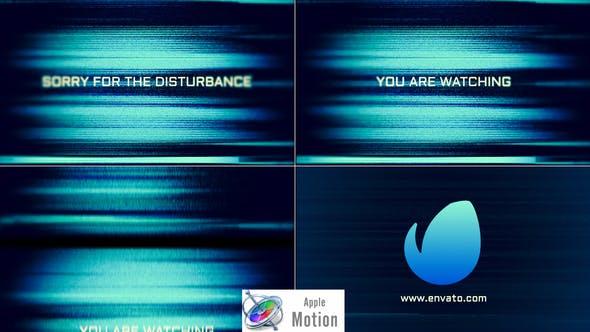 Glitch Noise Logo - Apple Motion