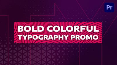 Bold Colorful Typography Promo | Mogrt
