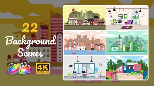 22 Background Scenes | Apple Motion & FCPX