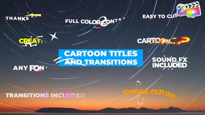 Cartoon Titles And Transitions | FCPX