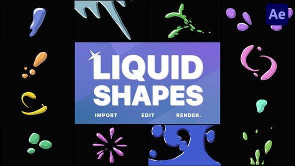 Liquid Shapes | After Effects