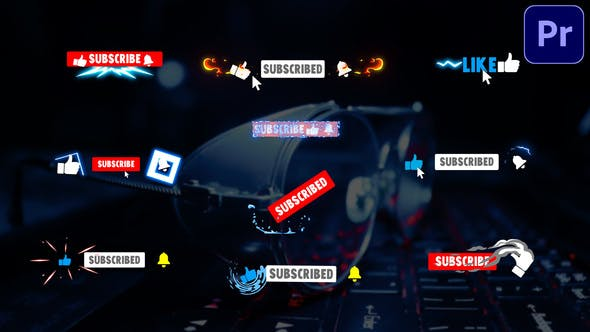 Youtube Subscribe Buttons   Premiere Pro MOGRT