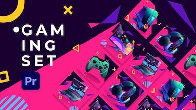 Gaming Set Product Promo | Premiere Pro MOGRT