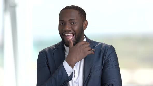 Playful Afro-american Entrepreneur