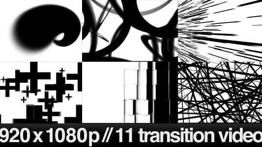 Thumbnail for 11 HD Transitions Bundle - D