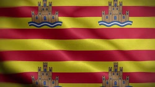 Ibiza Spain Flag Loop Background 4K