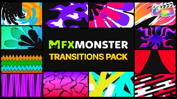 Stylish Colorful Transitions | FCPX