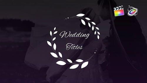 Elegant Wedding Titles