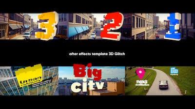3D Titles - 3D Glitch