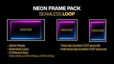 Neon Blue & Pink Color Frame Loop