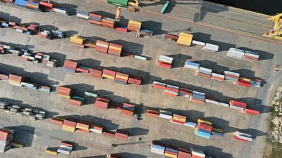 Containers in port