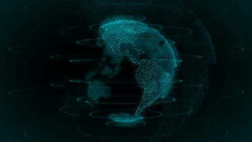 High Tech Digital Earth Background