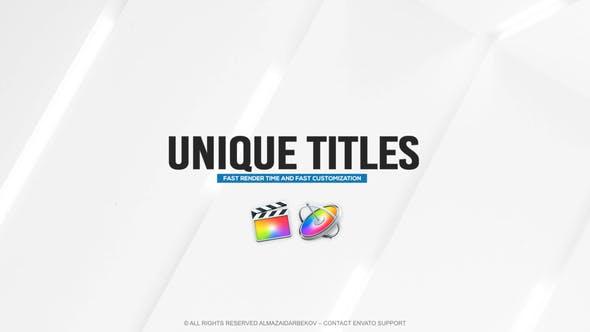 Unique Titles for FCPX