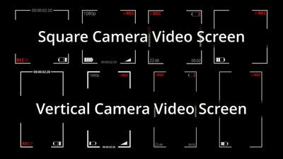 Square and Vertical Video Recording Screen