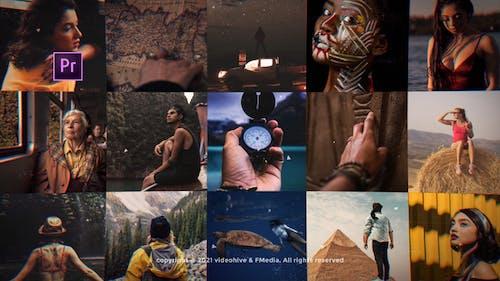 Mosaic Photo Adventure Vlog Logo Reveal - Premiere Mogrt