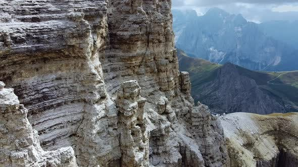 Beautiful Cliffs in the Dolomites