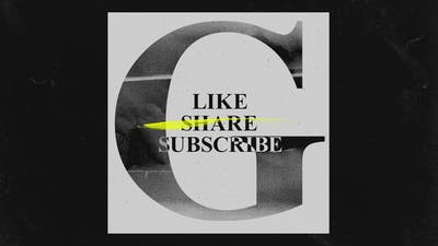 Social Like Share Subscribes Grunge