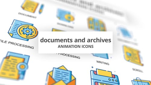Documents & Achives - Animation Icons