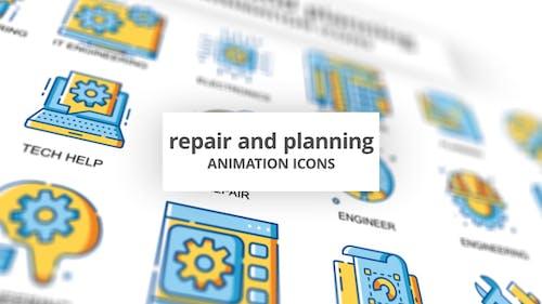 Repair & Planning - Animation Icons