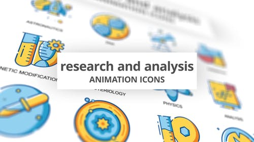 Research & Analysis - Animation Icons