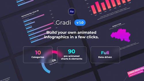 Gradi - Gradient Infographics