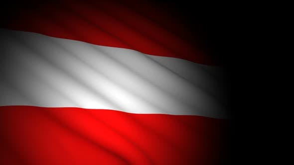 Thumbnail for Austria Flag Blowing in Wind