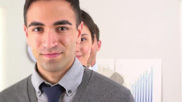 Thumbnail for Portrait of confident business partners