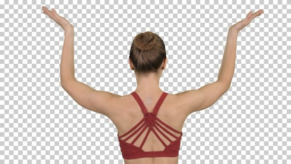 Thumbnail for Woman doing yoga lotus pose with hands coupled, Alpha Channel