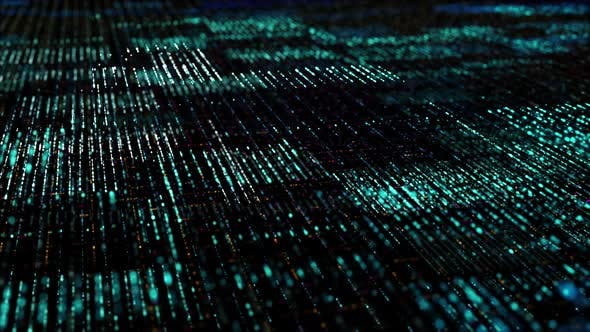 Thumbnail for Futuristic Digital Abstract Matrix Particles Grid 05