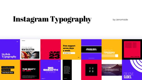 Instagram Typography for Premiere Pro
