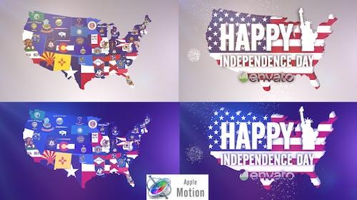 USA States Flag Logo - Apple Motion