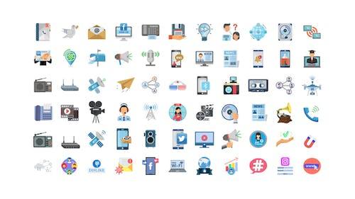 100 Communication & Multimedia Icons