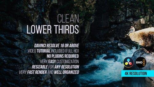 Clean Lower Thirds for DaVinci Resolve