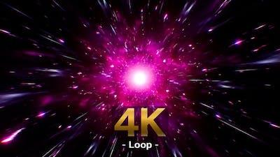 Neon Pink Space Energy 4K