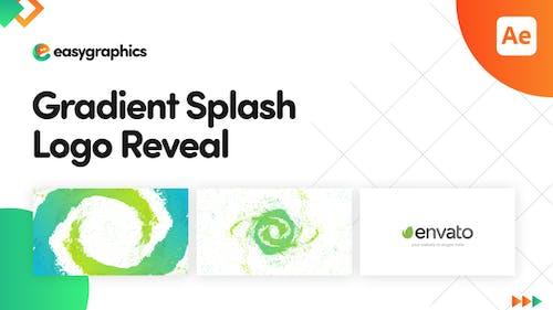 Gradient Splash Logo Reveal