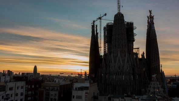 La Sagrada Familia Sunrise