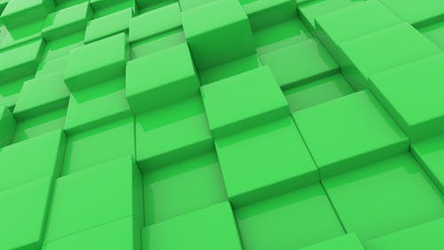 Cubes Green Background