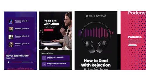 Audio Podcast Visualizer Stories