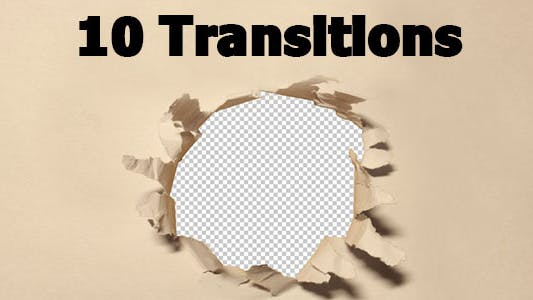 Thumbnail for Paper Transitions 10-pack (With Alpha Channel)