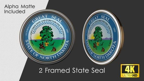 Framed Seal Of North Dakota State