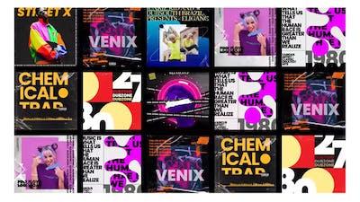 Trend music visualizer post instagram