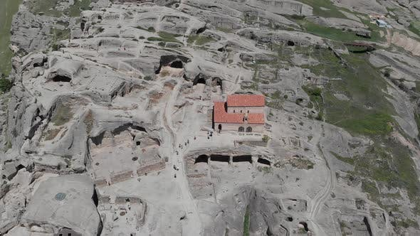 Thumbnail for Amazing aerial view of ancient town Uplistsikhe in Georgia