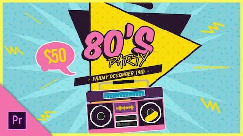 New 80s Mogrt Pack